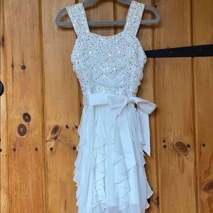 Amy's Closet White Sparkle Dress